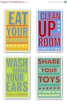 By Order of the Management by signs for kids bedroom or bathroom. LOVE. Etsy seller: johnwgolden