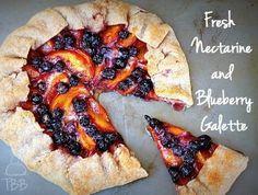 Fresh Nectarine and Blueberry Galette