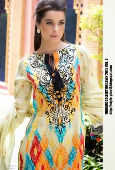 Design 19267 From Collection Lawn 2015 Vol.2 By Firdous