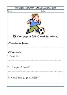 Dori dos 1112_mt005_r1_comprensio_lectora_3 Writing, How To Plan, School, Reading Comprehension, Reading Comprehension, Spanish Classroom Activities, Being A Writer