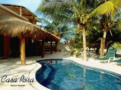 Casa Rosa cabana and pool area