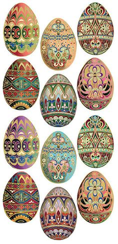 Self Adhesive Easter Eggs Stickers 1 Sheet Colorful Scrapbooking Stickers  Number 99 by 32NorthSupplies on Etsy https://www.etsy.com/listing/227501292/self-adhesive-easter-eggs-stickers-1