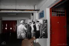 """Recreación fotográfica de Andrés Bravo, AFI Santiago.  Fotografías originales de: Marcelo Montecino, Köen Wessing, Chas Gerretsen y David Burnett. """""""