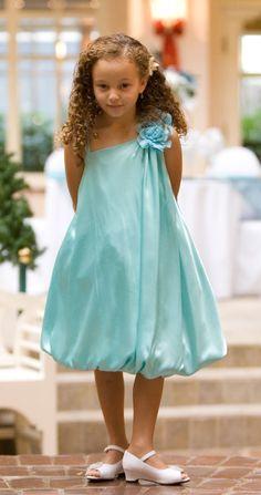 tiffany blue flower girl dresses | Off Shoulder Silk Satin Flower Girl Dress - Flower Girl Dresses