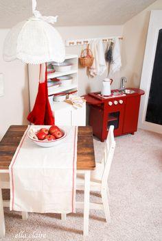 {vintage play kitchen. adorable! Ella Claire}