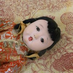 Asian Baby Doll Ichimatsu Gofun Japanese by BoudreauCollection