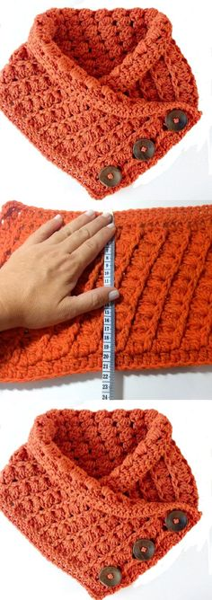 Knitting Patterns Jumper Learn how to crochet a scarf for winter, spring, summer, or fall with these simple crochet scarf pat.Easy and Fast Crochet Scarf Pattern is part of Knitting and Crochet Scarves - This is a more traditional infinity Crochet Sc Crochet Scarf Tutorial, Crochet Hooded Scarf, Crochet Scarf Easy, Crochet Beanie, Crochet Shawl, Simple Crochet, Crochet Stitches, Crochet Style, Hooded Scarf Pattern