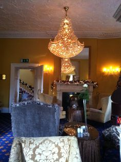 """See 1 photo and 9 tips from 124 visitors to Fitzgerald's Vienna Woods Hotel. """"The staff at Vienna went above & beyond to make our trip to Ireland the. Vienna Woods, Cork Wedding, Four Square, Vintage Designs, Backdrops, Chandelier, Ceiling Lights, Elegant, Luxury"""
