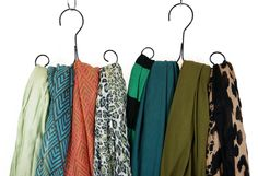 The Scarf Hanger: Accessories and Scarf Hanging Organizer Holder for Scarves (Set of 3)