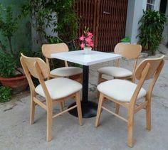 Bộ bàn ghế cafe đẹp White Lyn