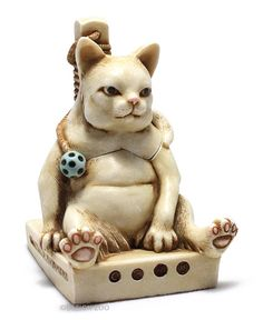 Harmony Kingdom GLUTTON FOR PUNISHMENT Fat Cat Treasure Jest Box Figurine