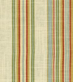 Waverly Stripe Ensemble Robin's Egg: $17.50/yd on sale {this would make beautiful new pillow shams for our bedroom!!}
