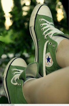 Green Converse - chuck taylor all star