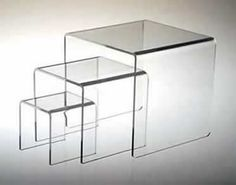 Nesting tables for half the price of CB2  Clear Solutions Displays