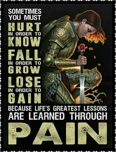 Lessons learned through pain. Spiritual Warrior, Prayer Warrior, Spiritual Warfare, Bible Verses Quotes, Faith Quotes, Wisdom Quotes, Prayer Verses, Scriptures, Quotes About God