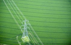aerial pylon and field