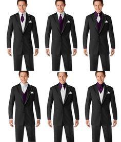 Menswear tux options