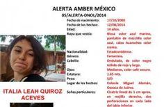 Oaxaca, Alerta AMBER para localizar a ITALIA LEAH QUIROZ ACEVES, de 14 años