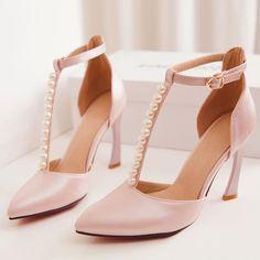 pink pointed toe wedding heels