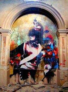 Connor Harrington. Stencil Graffiti, Graffiti Art, Street Graffiti, Street Art, Street Installation, Pop Up Art, Old Master, Art Model, Traditional Art