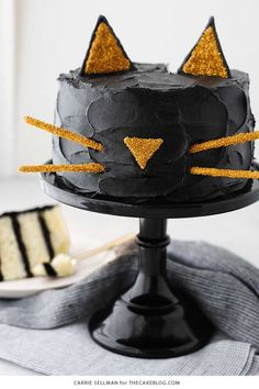 Who says a spooky Halloween cake can't be cute too? Get the tutorial at The Cake Blog.