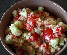 Cucumber-Tomato Coucous Salad #vegan