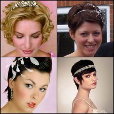 Com os penteados de casamento para cabelos curtos as opções são muitas: coroas românticas, acessórios com referências em folhagens e até as tiaras vintage