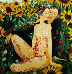 Otar Imerlishvili was born in 1970 in Tbilisi, Georgia. After graduating from high school he entered the art school named Niko Nikoladze in Tbilisi. In 1995 he graduated from Tbilisi state Academy of. Art Et Illustration, Illustrations, Figure Painting, Painting & Drawing, Female Body Paintings, Art Jokes, Naive Art, Pulp Art, Couple Art