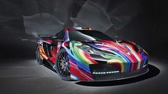 What  $ 122,000 in psychedelic colors can do for a McLaren MP4-12C :)