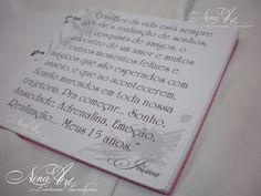 Nina Art - Lembranças Personalizadas: livro de assinatura 15 anos