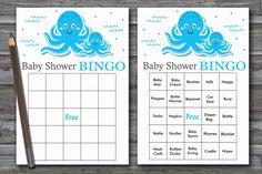 60 Nautical baby shower bingo cards, sea baby shower bingo, octopus baby shower bingo, starfish baby shower bingo, 60 bingo cards, BG-191 Baby Bingo, Baby Shower Bingo, Baby Shower Printables, Blank Bingo Cards, Free Diapers, Star Baby Showers, Nautical Baby, Shower Gifts, Starfish