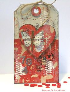 Mixed media Etceterat tag by Tracy Evans using Layered Grunge and butterfly stamp set from AALLandCreate Atc Cards, Card Tags, Gift Tags, Tag Art, Art Journal Pages, Junk Journal, Art Journaling, Timmy Time, Gelli Printing