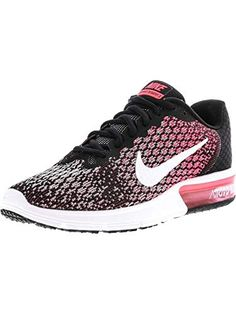 premium selection 6eacf 8723e NIKE Womens Air Max Sequent 2 Running Shoes BlackWhiteRacer Pink 852465-