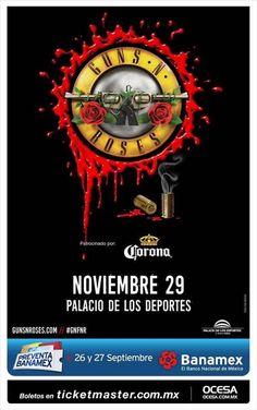 """""""Guns N Roses"""" es tendencia porque la banda volverá el próximo 29 de Noviembre. http://mexico.srtrendingtopic.com/trend/40407/2016-09-21/2016-09-21/guns-n-roses.html"""
