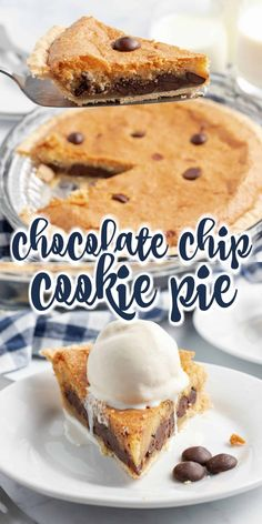 All the classic taste of the classic chocolate chip cookies baked into a pie. You'll love how easy it is to make a sweet and buttery Chocolate Chip Cookie Pie recipe.