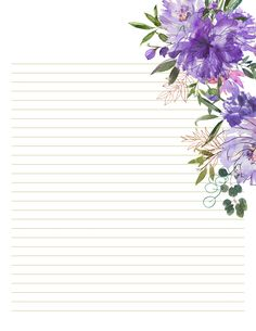 Floral Stationery designs for Lettering Purple Floral stationery templates to make amazing calligraphy wallart! Printables available in 5 designs. Printable Lined Paper, Free Printable Stationery, Stationery Templates, Printable Letters, Stationery Paper, Templates Printable Free, Stationery Design, Calligraphy Paper, Floral Letters