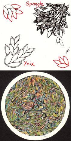 Spangle, by Mimi Lempart; similar to Ynix #doodle #zentangle