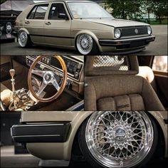 Nice retro Golf Mk 2 Retro design .....  The Recaros makin' me horny ... Nice jOB