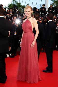 Nicole Kidman en robe drapée sur-mesure Lanvin au Festival de Cannes