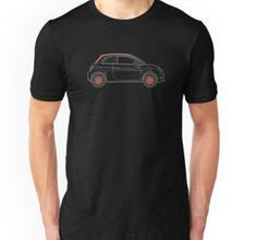 fiat 500 cabrio c shirt avaiable on redbubble