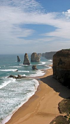Twelve Apostles, Victoria, as seen from the Great Ocean Road, Australia Places Around The World, Oh The Places You'll Go, Places To Travel, Places To Visit, Around The Worlds, We Are The World, Wonders Of The World, Beautiful World, Beautiful Places