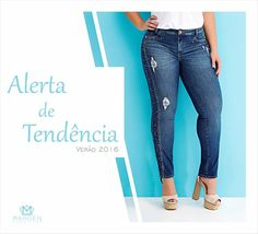 Jeans despojado e diferenciado.