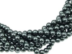 8mm Tahitian Pearl, Swarovski® crystals, Tahitian, 8mm round (5810). Sold per pkg of 11 - pinned by pin4etsy.com