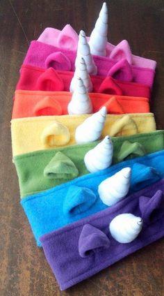 75 Magically Inspiring Unicorn Crafts DIYs Foods and Gift Ideas: Fleece Unicorn Headband