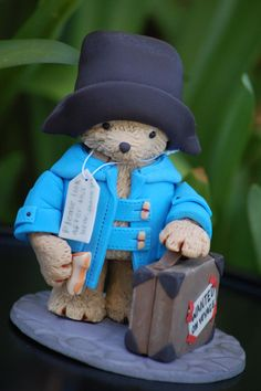 "Fondant Paddington Bear Topper. 4"" high."