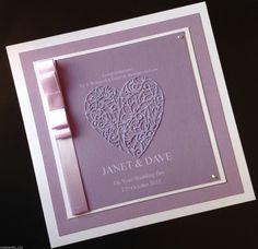 8''x 8'' HANDMADE PERSONALISED WEDDING CARD in Crafts, Cardmaking & Scrapbooking, Hand-Made Cards   eBay