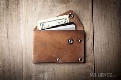 Leather Wallet with snap, leather card wallet, men's wallet, thin wallet, simple snap wallet  020 by MrLentz on Etsy https://www.etsy.com/listing/191263743/leather-wallet-with-snap-leather-card