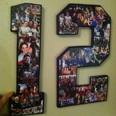 Senior night headquarters! Seniors 2016. Number collage, Team mom, coach gift, player gift, basketball mom, baseball mom. by MatchPointGifts on Etsy
