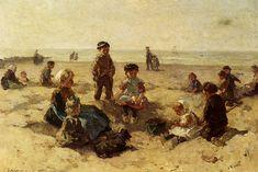 Johannes Evert Akkeringa, Children Playing on the Beach