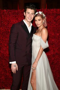 Shawn Mendes and Hailey Baldwin at the Met Gala 2018 in NYC